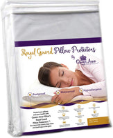 Royal Guard Pillow Protectors and Dust Mite Covers by Queen Anne Pillow (2 Pack fits Standard/Queen)