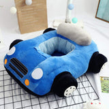 Fityle Cute Car Children Reading Seating Sofa Cover Kids Mini Chair Baby Bedroom Playroom Stuffed Toy Bean Bag - Blue