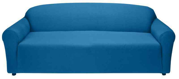 """COMPARE PRICES"" JERSEY ""COBALT BLUE"" SOFA ""STRETCH"" COUCH COVER SLIPCOVER"