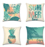 QUXIANG 6 Packs Throw Pillow Covers 18 x 18 Inches, Decorative Line Burlap Pillow Cases for Sofa, Bedroom, Car, Gifts (Red/Orange/Yellow/Green/Blue/Pink)