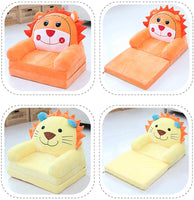 Fivtyily Cute Cartoon Shape Kids Sofa Chair Soft Plush Toddler Armchair Toddler Furniture for Living Room Bedroom (Yellow)