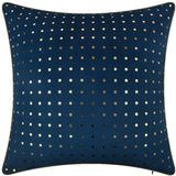 King Rose Soft Velvet Luxury Gold Foil Printing Dot Decorative Accent Throw Pillow Case Soomth Cushio Cover Blue 16 X 16 Inches Blue