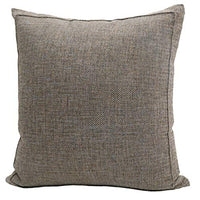 Jepeak Burlap Linen Throw Pillow Cover Cushion Case, Farmhouse Modern Decorative Solid Square Thickened Pillow Case for Sofa Couch (24 x 24 inches, Beige+Khaki Threads)