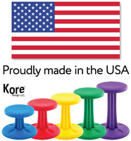 Kore Kids Wobble Chair - Flexible Seating Stool for Classroom & Elementary School, ADD/ADHD - Made in USA - Age 6-7, Grade 1-2, Dark Blue (14in)