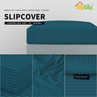 Easy-Going Stretch Cushion Cover Sofa Cushion Furniture Protector Sofa Seat Sofa slipcover Sofa Cover Soft Flexibility with Elastic Bottom(Chiar Cushion,Peacock Blue)