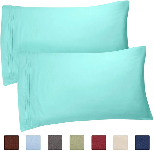 Queen Size Pillow Cases Set of 2 – Soft, Premium Quality Hypoallergenic Pillowcase Covers – Machine Washable Protectors – 20x26 & 20x30 Pillows for Sleeping 2 Piece - Queen Size Pillow Case Set