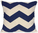 FanHomcy Navy Blue Geometrict Throw Pillows Cases for Couch Decorative Cushion Covers Set of 4,18 x 18 Inch