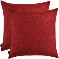 Artcest Set of 2, Decorative Linen Bed Throw Pillow Case, Sofa Durable Modern Stylish, Comfortable Cushion Cover for Couch (Burgundy, 20x20 inches)