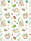 "Ormis Baby Sloth Nursery Pattern Bed/Sofa Soft Throw Blanket Perfect for Blanket Kid Baby for Couch Sofa Chair Bed Office or Travelling 50""x60"""