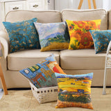 Sykting Euro Pillow Covers Set of 5 Celebrity Pictures Series Patterned Pillow Covers 18x18 inch Farmhouse Cotton Linen for Couch Sofa Bed Home Decorations