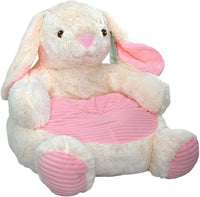 "Kelly Toy Bunny Rabbit Plush Chair with Pink Seat 18"" Plush Interactive Toys,,"