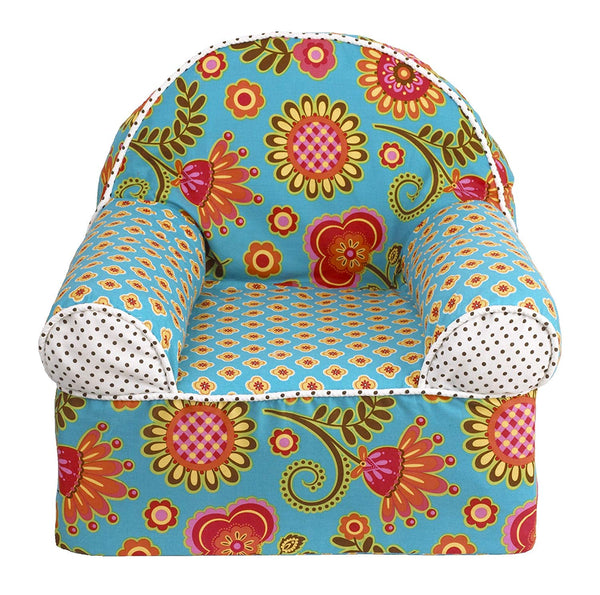 Cotton Tale Designs Gypsy Chair, Turquoise/Red/Orange/Yellow