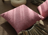 Kevin Textile Decor Lined Linen Euro Throw Pillow Cover Sham for Patio/Living Room, 26 x 26 inch, Baby Pink