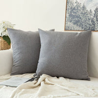 1 PC Decorative Linen Burlap Decor Square Throw Cushion Cover Cushion Case for Living Room Sofa Bedroom Car