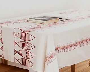 Saury Printed Cotton Burlap Linen Cotton Fabric Canvas Textile Cotton Fabric DIY Sewing Tablecloth Sofa Cloth Crafts Cloth