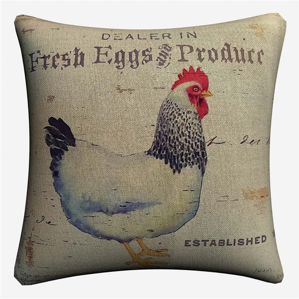 Farmhouse Kitchen Animal Burlap Decorative Cotton Linen Cushion Cover 45x45 cm For Sofa Chair Pillowcase Home Decor Almofada