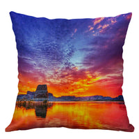 "18"" Sunset Scenery Pillow Case pillow Cover Sofa Waist Cushion Covers Home Decor"
