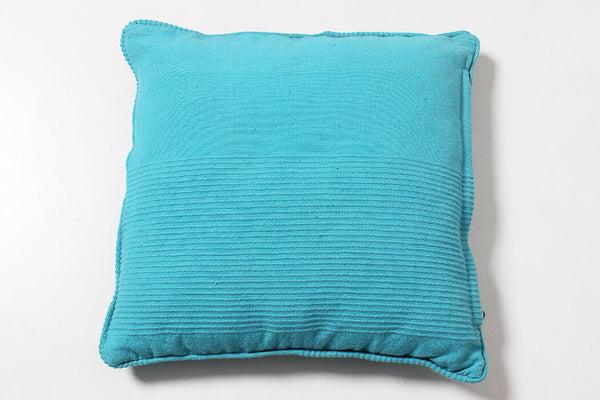 Indian Cotton Blue Pillow Case Handmade Cushion Cover 40X40 CM Plain Sofa Decor