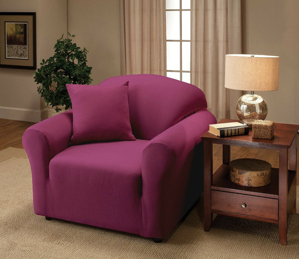 """A GREAT PRICE"" JERSEY COVERS (CHAIR SOFA COUCH LOVESEAT RECLINER)--BURGUNDY"