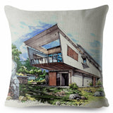 Design Country House Print Cushion Covers Pillow Case Car Sofa Home Decor