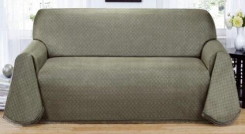 """BEST BUY""----BLUE---MATRIX ""NON-SLIP"" EXTRA LONG SOFA COUCH COVER--IN 3 COLORS"