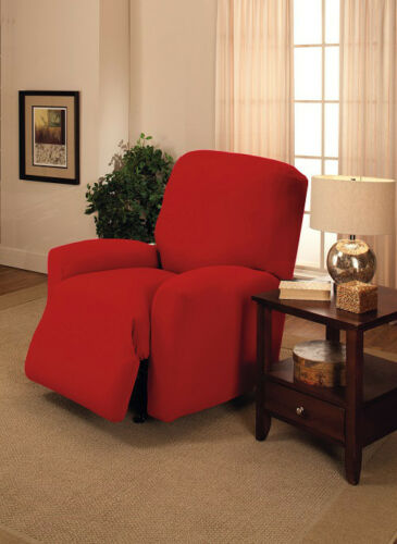 """PRICED RIGHT"" RED WASHABLE COVERS FOR RECLINERS LAZY BOY AND ALL OTHER SIZES"