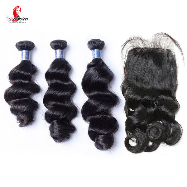 Brazilian Bundle Deals With Lace Closure