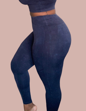 Ribbed Acid Wash Leggings