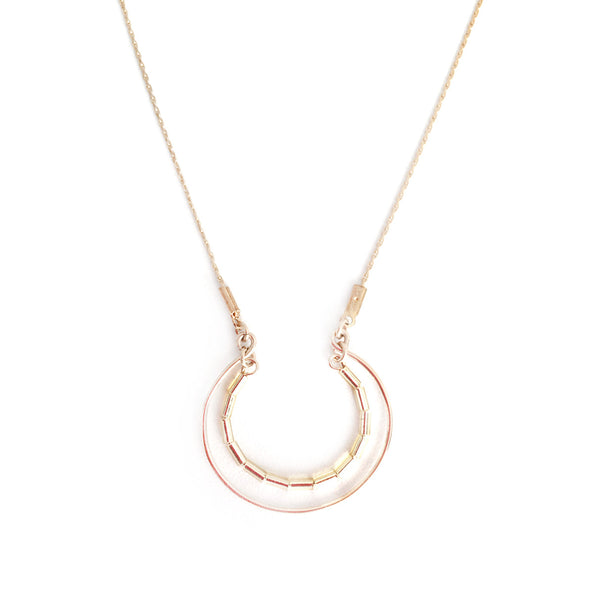 collier Half curve or - Mirgiole