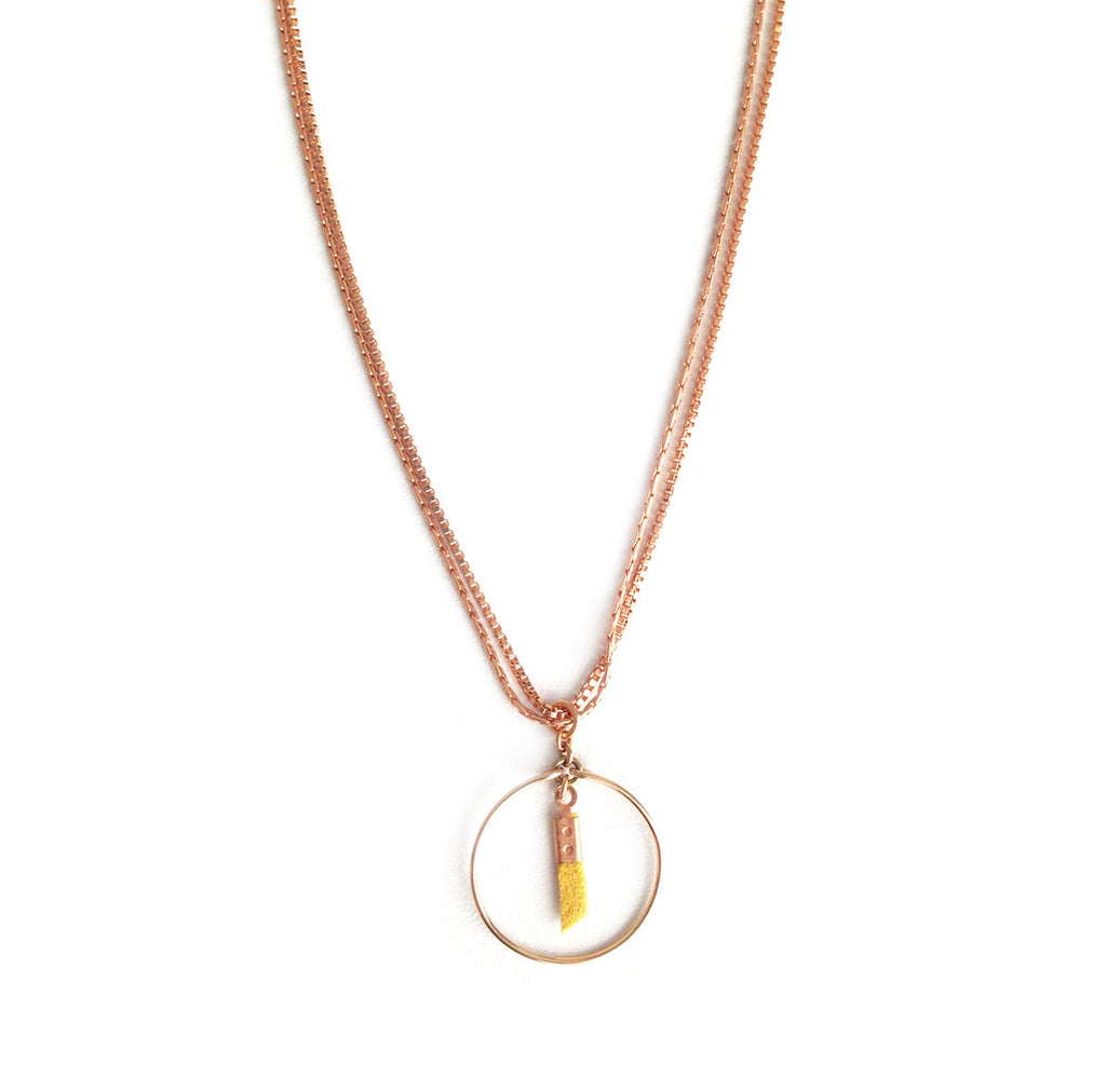 collier coil jaune - Mirgiole