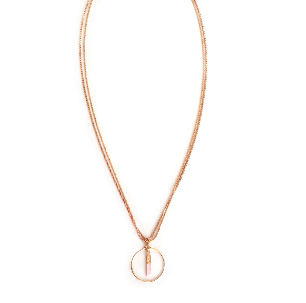 collier Coil rose - Mirgiole