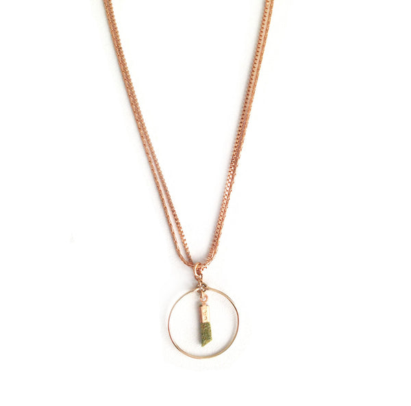 collier coil vert - Mirgiole