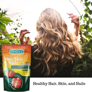 Restorz® Hair, Skin, and Nails Gummies with Biotin