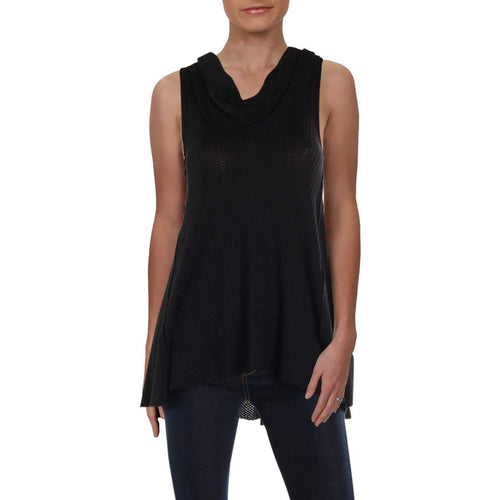 Women's Black Cowl Tank