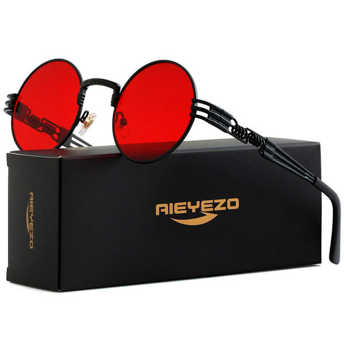 Sith Red Round Sunglasses