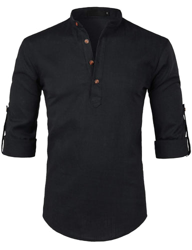 Men's Casual Slim Fit Henley