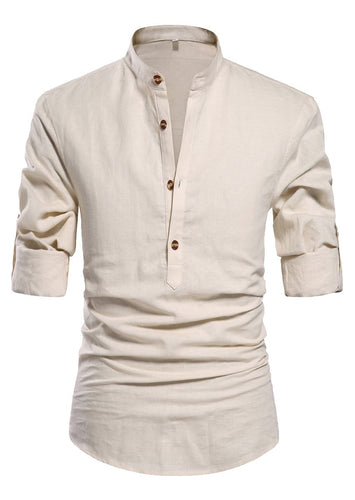 Men's Cotton Linen Blend Shirt