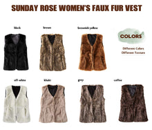 Load image into Gallery viewer, Women's Faux Wookie Vest