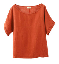 Load image into Gallery viewer, Women's Batuu Orange Linen Top