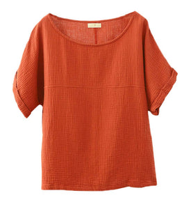 Women's Batuu Orange Linen Top