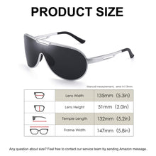 Load image into Gallery viewer, Men's Metal Frame Sunglasses