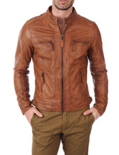Load image into Gallery viewer, Men's Bomber Leather Jacket