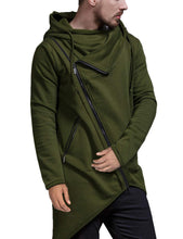 Load image into Gallery viewer, Men's Oblique Zipper Hoodie
