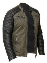 Load image into Gallery viewer, Men's Racer Leather Jacket