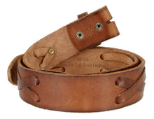 Load image into Gallery viewer, Men's Leather X-Lace Belt (Brown)