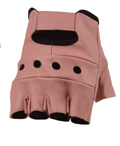 Women's Leather Fingerless Gloves