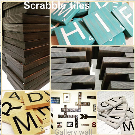 gallery wall scrabble tiles
