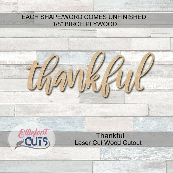 Thankful Wood Cutouts