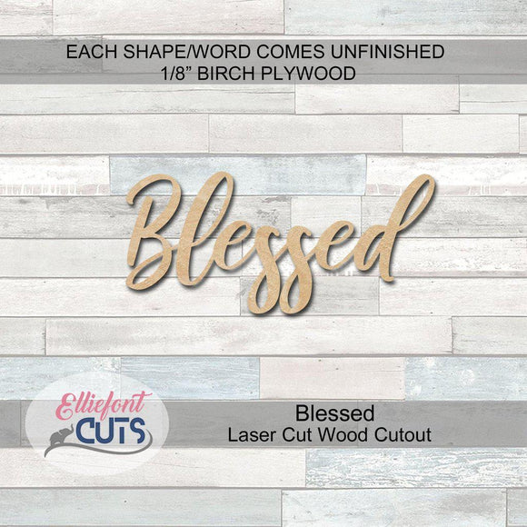 blessed wood cutouts