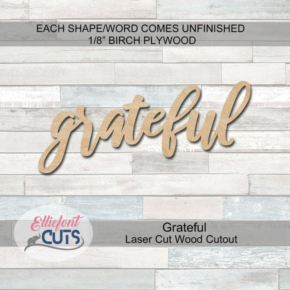 grateful wood cutouts